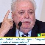 """El ministro de Salud afirmó que """"Argentina reaccionó anticipadamente ante el coronavirus"""""""