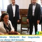 La exvicepresidenta Michetti fue imputada por supuestas irregularidades en obras del Senado