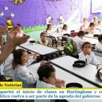 Zabaleta compartió el inicio de clases en Hurlingham y celebró que la educación pública vuelva a ser parte de la agenda del gobierno