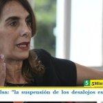 """Ministra Bielsa: """"la suspensión de los desalojos es un gesto de humanidad"""""""