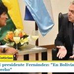 """Definición del presidente Fernández: """"En Bolivia se violentó el Estado de Derecho"""""""