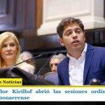 El gobernador Kicillof abrió las sesiones ordinarias en la Legislatura bonaerense
