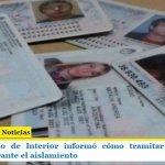 El Ministerio de Interior informó cómo tramitar el DNI con urgencia durante el aislamiento