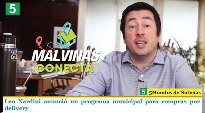 Leo Nardini anunció un programa municipal para compras por delivery