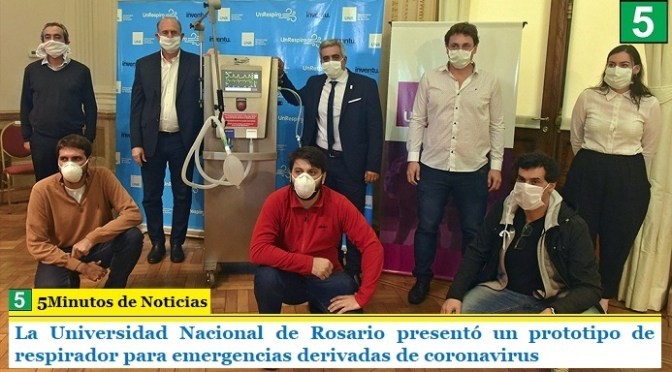 La Universidad Nacional de Rosario presentó un prototipo de respirador para emergencias derivadas de coronavirus