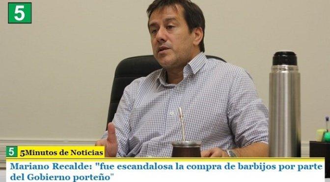 """Mariano Recalde: """"fue escandalosa la compra de barbijos por parte del Gobierno porteño"""""""