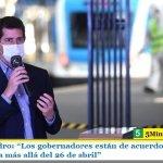 """Wado De Pedro: """"Los gobernadores están de acuerdo en mantener la cuarentena más allá del 26 de abril"""""""