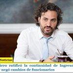 Santiago Cafiero ratificó la continuidad de Ingreso Familiar de Emergencia y negó cambios de funcionarios
