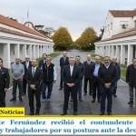 El Presidente Fernández recibió el contundente respaldo de empresarios y trabajadores por su postura ante la deuda