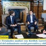 El Presidente Fernández analizó con Kicillof, Larreta y ministros la continuidad del aislamiento social preventivo y obligatorio