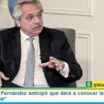 """El Presidente Fernández anticipó que dará a conocer las bases de un """"contrato social"""""""