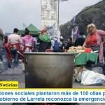 Las organizaciones sociales plantaron más de 100 ollas populares para exigir que el gobierno de Larreta reconozca la emergencia en las villas