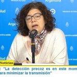 """Carla Vizzotti: """"La detección precoz es en este momento la única herramienta para minimizar la transmisión"""""""
