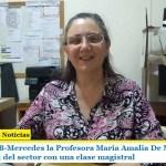 Desde la UEB-Mercedes la Profesora María Amalia De Marco repasó la actualidad del sector con una clase magistral
