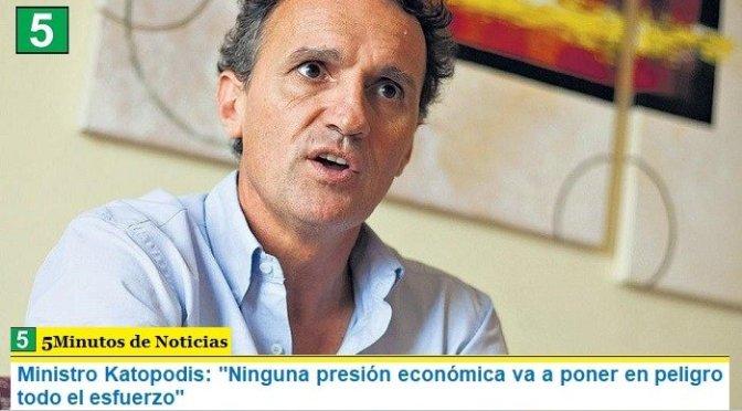 """Ministro Katopodis: """"Ninguna presión económica va a poner en peligro todo el esfuerzo"""""""