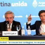 """Gobernador Kicillof: """"si crecen los contagios, no se puede flexibilizar"""""""