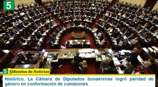 Histórico. La Cámara de Diputados bonaerense logró paridad de género en conformación de comisiones