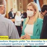 """La Vicegobernadora Magario pidió """"no descuidar la cuarentena"""" y adelantó que cualquier apertura será """"muy medida"""""""