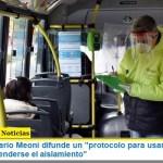 """El ministro Mario Meoni difunde un """"protocolo para usar el transporte público al extenderse el aislamiento"""""""