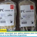 El primer hospital municipal que aplica plasma para tratar pacientes con coronavirus es el de Malvinas Argentinas