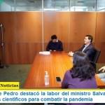 El ministro De Pedro destacó la labor del ministro Salvarezza por los 532 proyectos científicos para combatir la pandemia