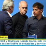 Fernández, Kicillof y Rodríguez Larreta lanzan este viernes la nueva cuarentena que será restrictiva de actividades y servicios en el AMBA