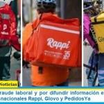 Imputan por fraude laboral y por difundir información engañosa a las empresas trasnacionales Rappi, Glovo y PedidosYa