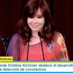 La Vicepresidenta Cristina Kirchner destacó el desarrollo argentino de un nuevo kit de detección de coronavirus