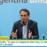 """Ministro Katopodis: """"lo que no hagamos bien hoy, lo vamos a sufrir en los próximos 15 o 20 días"""""""
