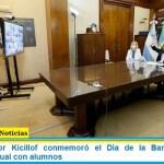 El Gobernador Kicillof conmemoró el Día de la Bandera con un encuentro virtual con alumnos