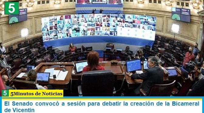 El Senado convocó a sesión para debatir la creación de la Bicameral de Vicentin