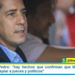 """Ministro De Pedro: """"hay hechos que confirman que Macri usaba el Estado para espiar a jueces y políticos"""""""