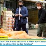 """El ministro """"Wado"""" De Pedro recorrió el Mercado Central y destacó el """"abastecimiento de alimentos de las familias"""""""