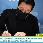 Leo Nardini firmó convenio con Nación y Provincia para asistir a niños, niñas y adolescentes de Malvinas Argentinas