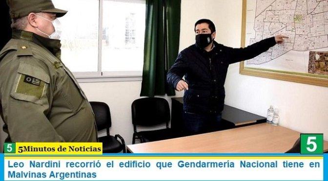 Leo Nardini recorrió el edificio que Gendarmería Nacional tiene en Malvinas Argentinas