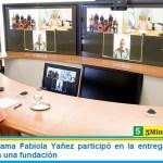 La Primera Dama Fabiola Yañez participó en la entrega de sillas de ruedas junto a una fundación