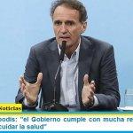 """Ministro Katopodis: """"el Gobierno cumple con mucha responsabilidad el objetivo de cuidar la salud"""""""