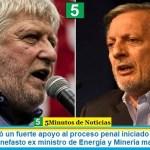 Minucci brindó un fuerte apoyo al proceso penal iniciado por Enargas a Aranguren, el nefasto ex ministro de Energía y Minería macrista