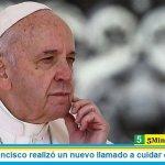 El Papa Francisco realizó un nuevo llamado a cuidar el ambiente