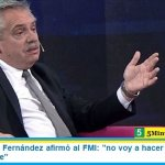 """El Presidente Fernández afirmó al FMI: """"no voy a hacer un ajuste que pague la gente"""""""