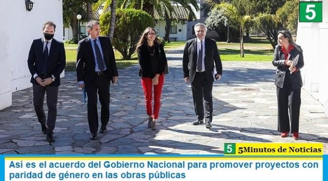 Así es el acuerdo del Gobierno Nacional para promover proyectos con paridad de género en las obras públicas