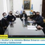 El gobernador Kicillof y la ministra Bielsa firmaron convenios para el desarrollo territorial y habitacional