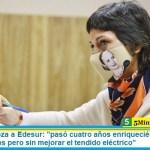 Mayra Mendoza a Edesur: «pasó cuatro años enriqueciéndose a costa de los tarifazos pero sin mejorar el tendido eléctrico»