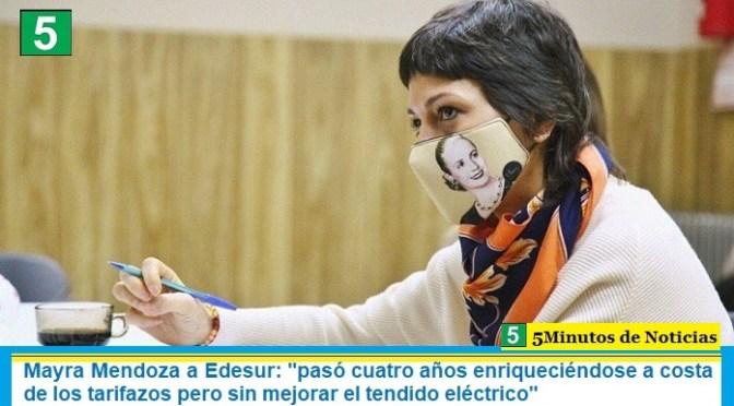 """Mayra Mendoza a Edesur: """"pasó cuatro años enriqueciéndose a costa de los tarifazos pero sin mejorar el tendido eléctrico"""""""