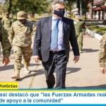 """El ministro Rossi destacó que """"las Fuerzas Armadas realizaron más de 10.000 tareas de apoyo a la comunidad"""""""