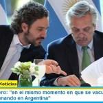 """Santiago Cafiero: """"en el mismo momento en que se vacune en Europa, se estará vacunando en Argentina"""""""