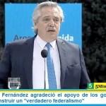 """El Presidente Fernández agradeció el apoyo de los gobernadores y abogó por construir un """"verdadero federalismo"""""""