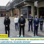 """Presidente Fernández: """"los problemas se resuelven frontalmente y no escondidos en patrulleros, tocando sirenas"""""""