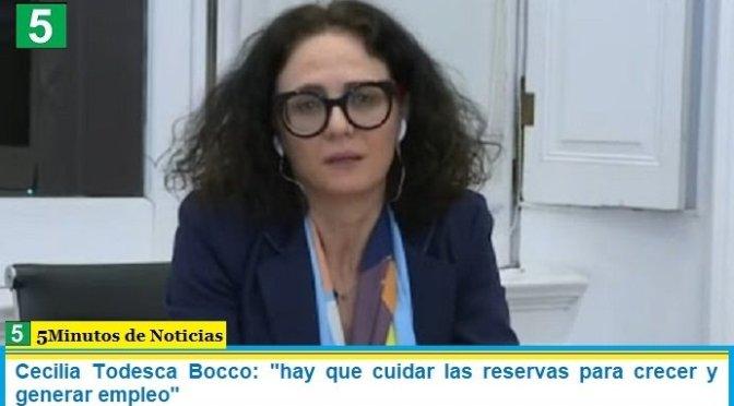 """Cecilia Todesca Bocco: """"hay que cuidar las reservas para crecer y generar empleo"""""""