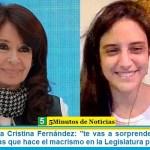 """Vicepresidenta Cristina Fernández: """"te vas a sorprender tanto como yo de las cosas que hace el macrismo en la Legislatura porteña"""""""